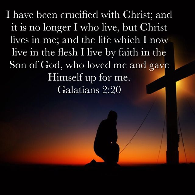 Galatians 2:20 | Christian quotes prayer, Bible verse memorization, Bible  verse search