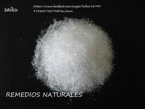 La sal de Epson o sal inglesa (Sulfato de Magnesio) es un ingrediente importante en un proceso de rehabilitación, pues acorta por lo menos e...