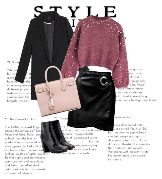 """""""Untitled #35"""" by clarisa-pop on Polyvore featuring Sans Souci, Chloé and Yves Saint Laurent"""
