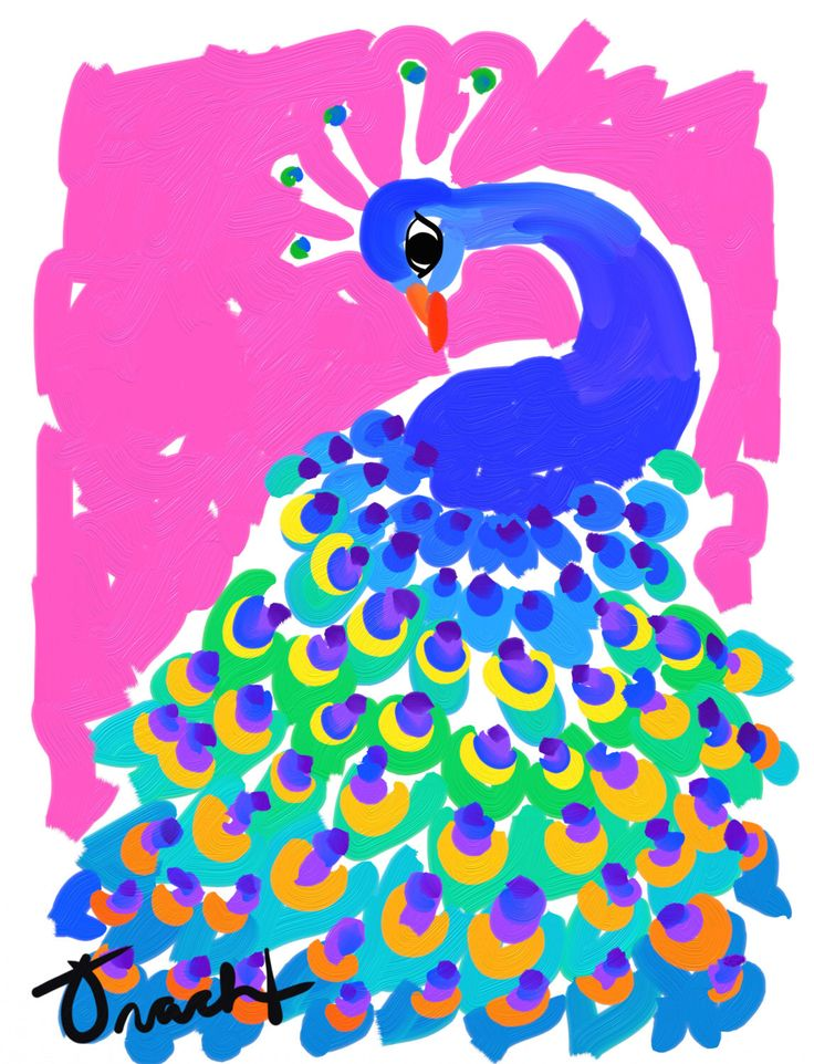 Peacock Print 8.5x11 Navy & PInk Peacock Art by artist Kelly Tracht, Preppy Art Colorful Painting Item #2O (Pink) by trachtart on Etsy https://www.etsy.com/listing/161950525/peacock-print-85x11-navy-pink-peacock