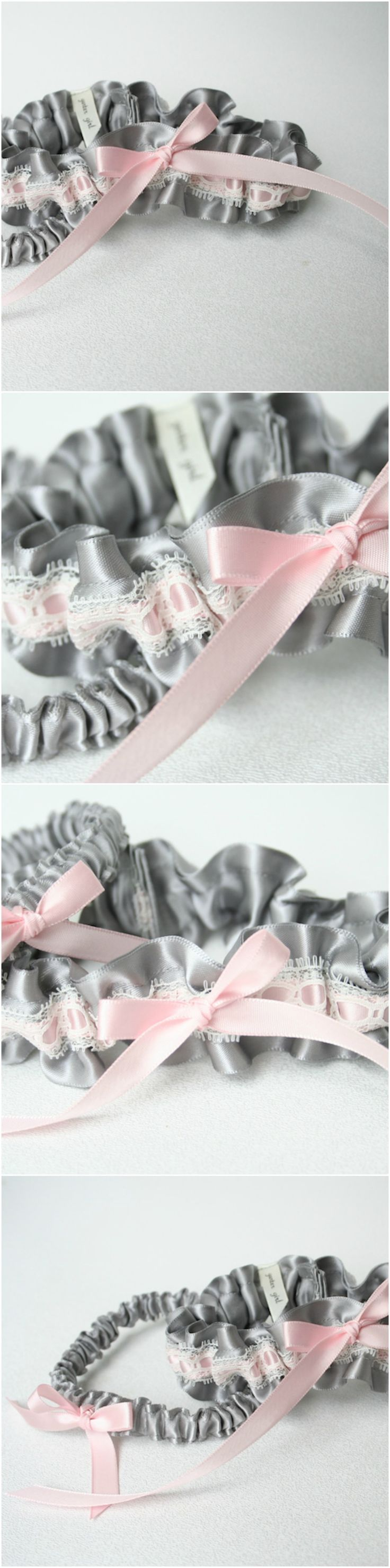 Custom Gray, Pink and Ivory Lace Wedding Garter-by The Garter Girl  Wedding Garter Toss, Wedding Garter Ideas, Wedding Garter, Wedding Garter Traditions, Wedding Garter Leg, Plus Size Wedding Garters, Custom Wedding Garters, Heirloom Wedding Garters, Something Blue Wedding Garter. WORLDWIDE SHIPPING - HANDMADE HEIRLOOMS Click to shop online now!