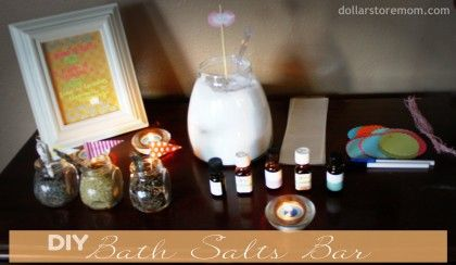 Make a DIY Bath Salts Bar | Dollar Store Mom Frugal Fun – Crafts for Kids