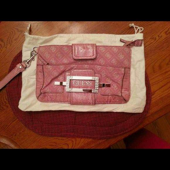 e03551328ed Authentic Guess clutch   Wristlets