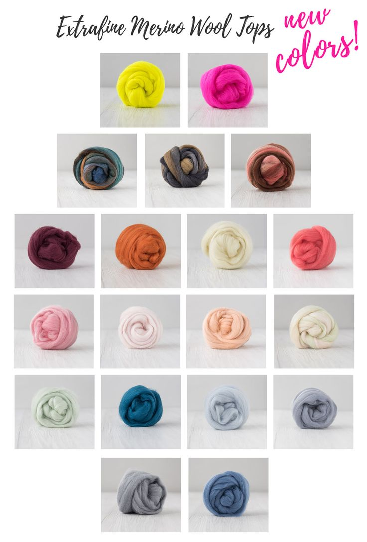 15% off on the new colors for Extrafine Merino Wool Tops.