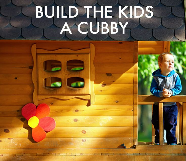 Building a cubby house is a fun project that you can do with the kids this #Easter