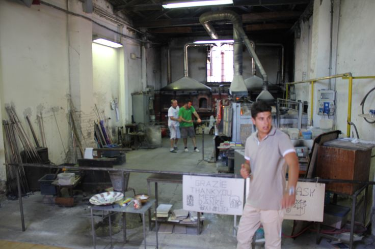 Glass blowing for the tourists at Murano.