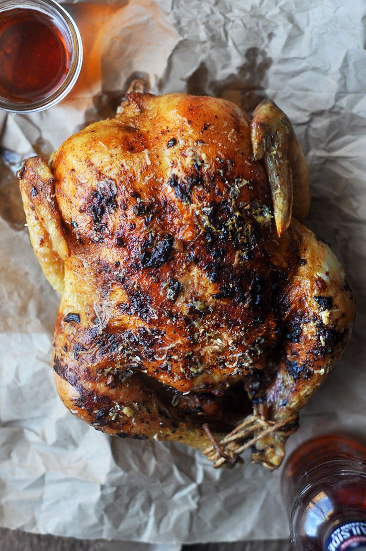 Parmesan Crusted Garlic Butter Roasted Chicken – This garlic butter roasted chic…   – fab food