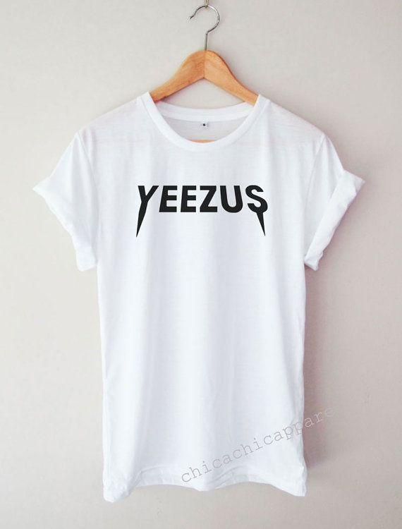 Chemise Yeezus Kanye West drôle de mot Cool par chicachicapparel