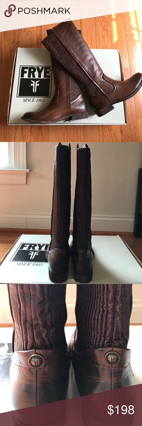 "Frye Melissa Tall Scrunch Boots Brand New Tall Melissa Tall Scrunch Boots 🔶Round Toe🔶Leather Scrunch Back Panel Detail🔶Pull On🔶16.25 Shaft Height🔶1"" Heel🔶Boots have a Few Minor Scratches from Manufacturer as Seen in Last Pic🔶Retail Value of $498🔶Feel Free to Make Me An Offer Frye Shoes"