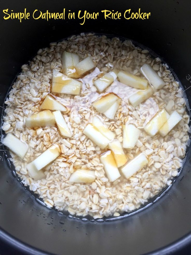 Easy Oatmeal in a Rice Cooker - Erin Brighton || gluten free recipes | breakfast | kid recipes | cooking tips | baby food | NC apples | eat local