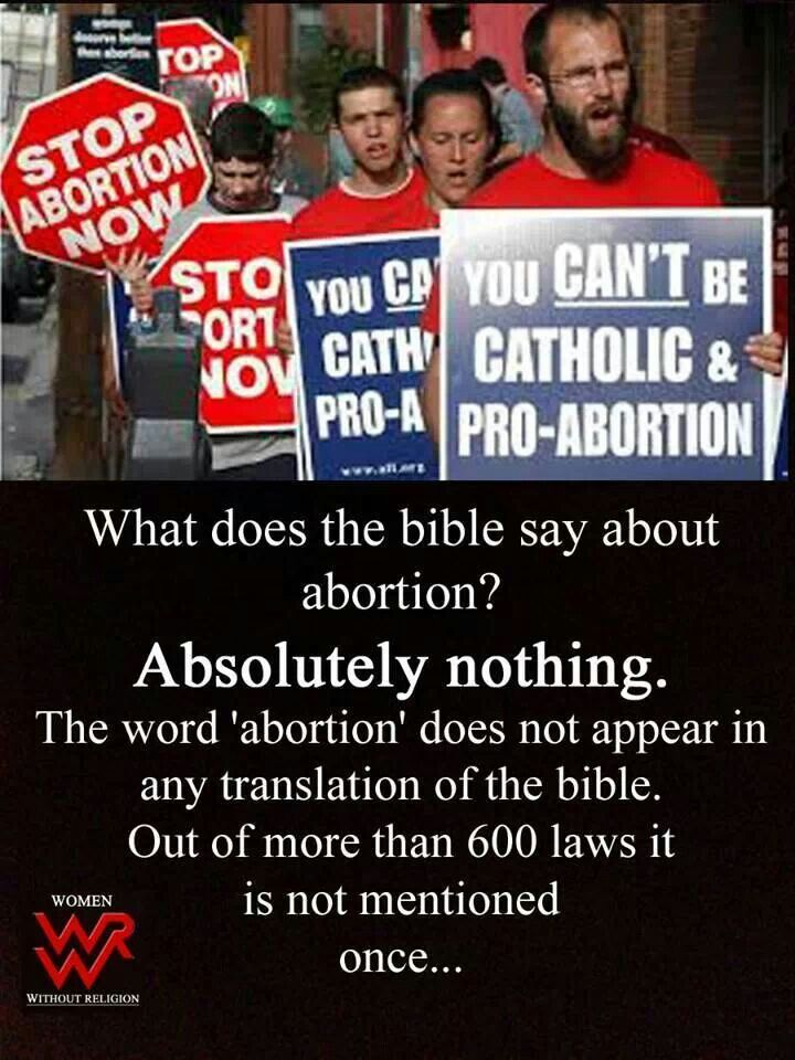 What the bible says about abortion