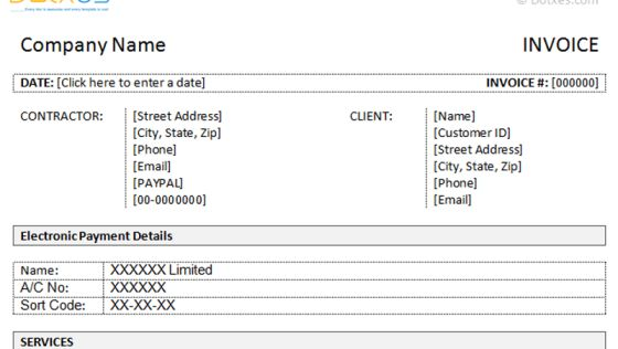Doc689415 Money Transfer Receipt Template money transfer – Contractor Invoice Template Word