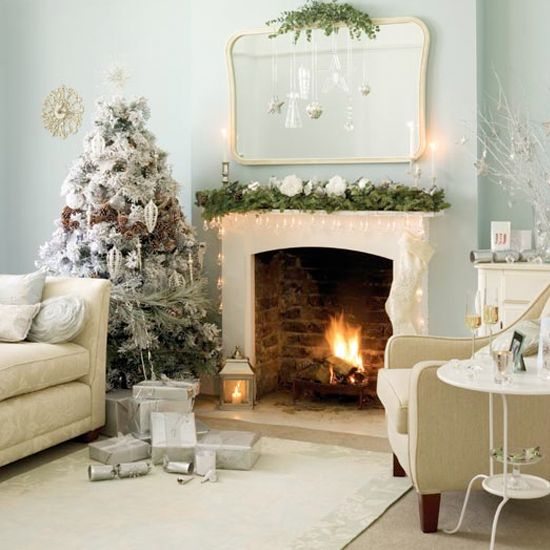 Fireplace Foliage   Floral Christmas Ideas   Christmas tree