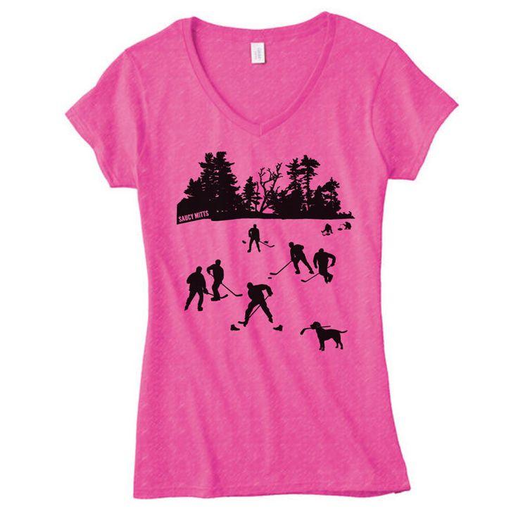 Day On The Lake Womens Hockey Shirt