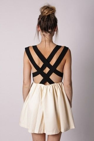 Summer Dresses, Fashion, Backless Dresses, Criss Crosses, Black White, Crisscross, The Dresses, Open Back, Back Details