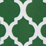 Kelly Green Quatrefoil Fabric Finders Cotton by ContinentalSewing, $11.98
