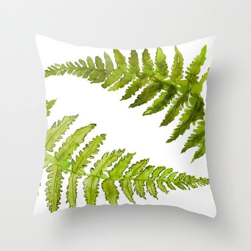 NEW Home Decor Botanical Watercolor Art Pillow Cover Etched into Nature No.1. $37.00, via Etsy. SERIOUS WANT!