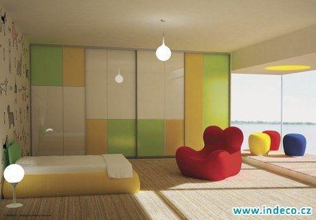 Galerie vestavěných skříní na míru INDECO - Dětské pokoje