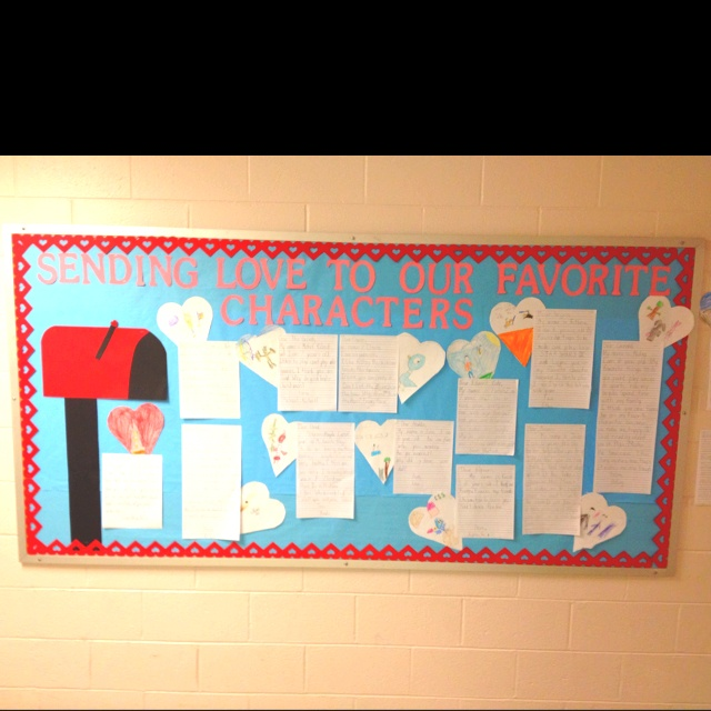 26 best feb bulletin boards images on pinterest board ideas february bulletin board letter writing fave character spiritdancerdesigns Gallery