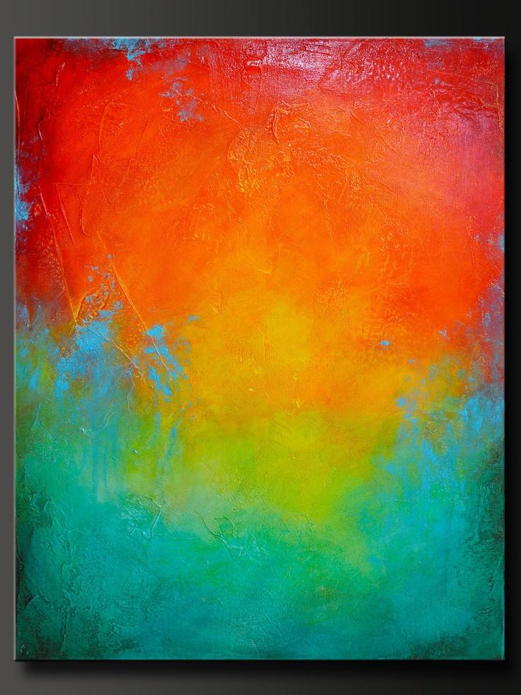 28 x 22 - Abstract Acrylic Painting - Contemporary Wall Art.  via Etsy.