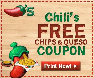 Chili's Coupon for Free Chips and Dip - Wisconsin Mommy