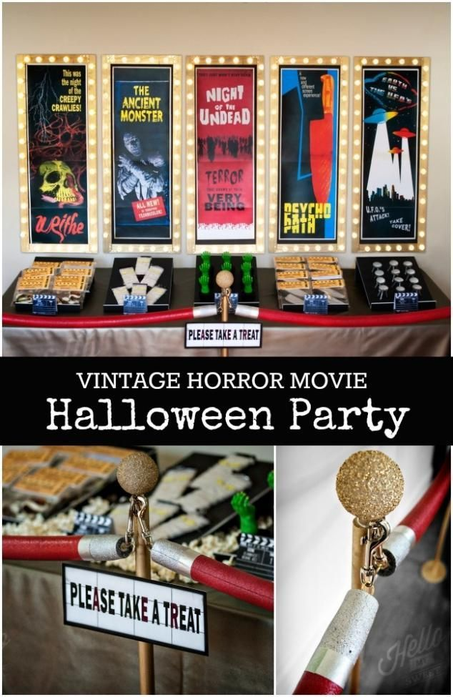 Vintage Horror Movie Halloween Party Ideas Fun Halloween Pins - fun halloween party ideas