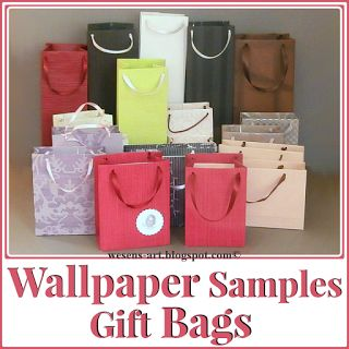 Create your own Gift Bags with Wallpaper or another strong paper for less #DIY #Giftbags