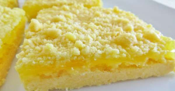 3 Ingredient Lemon Crumble Bars