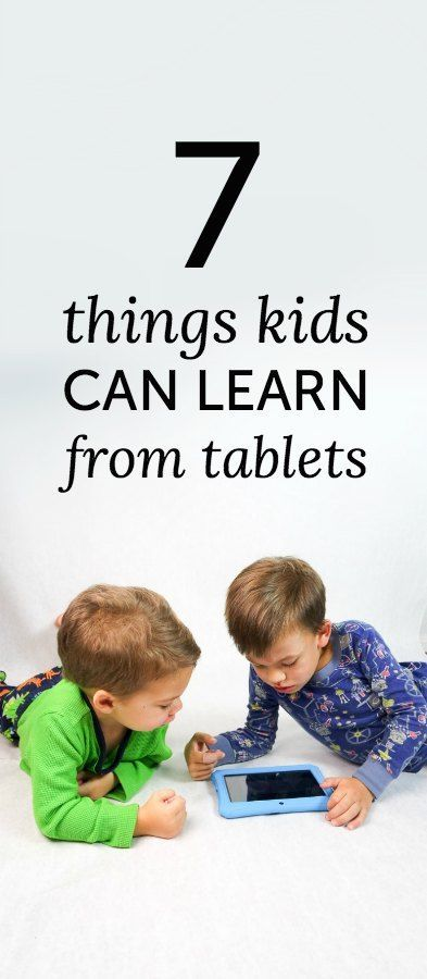 Things kids can learn from tablets, including coordination, sharing and world lessons