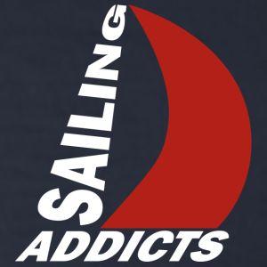 long sleeve white logo Sailing Addicts TM