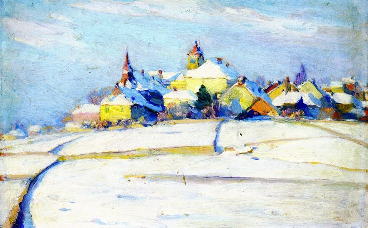 Clarence Gagnon (1881-1942) - Pully Under Snow, 1912