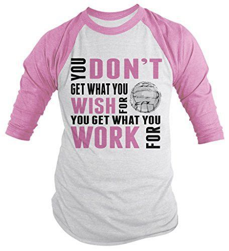 Shirts By Sarah Menu0027s Volleyball Shirt Get What Work For 3/4 Sleeve Raglan  Shirts
