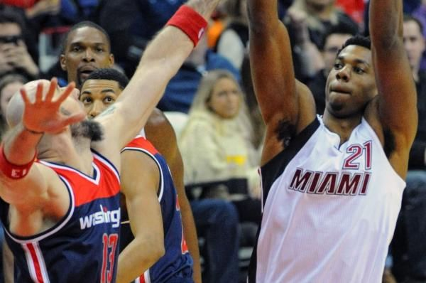 cool Hassan Whiteside dazed and confused about Dwyane Wade's departure