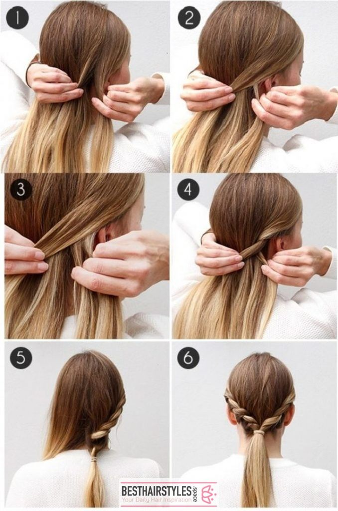 20 Hairstyles That You Can Do In Just 5 Minutes Besthairs Diy Hairstyles Summer Hairstyles Hair Styles