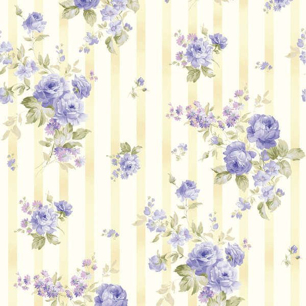 Ellie Ann Blue Wallpaper by Eleanor Burns for por LilyRoseQuilts