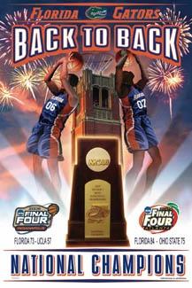Florida Gators NCAA Mens Basketball Back to Back Championships (2006-2007).  www.GainesvilleFloridaHomes.com
