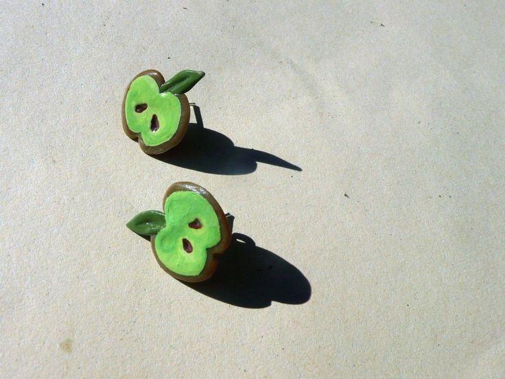 Green apples - earrings