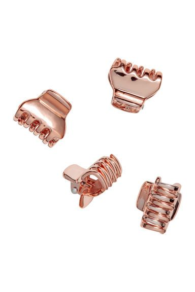 4-pack hair claws - Rose gold-coloured - Ladies | H&M GB 1