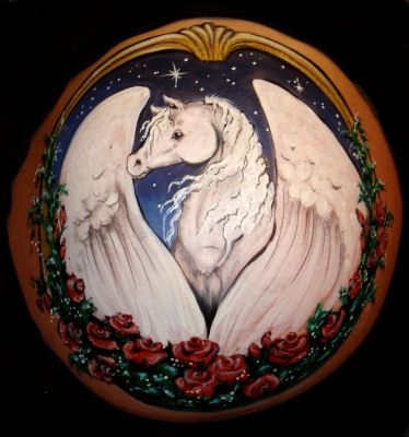 Belly Painting Pegasus