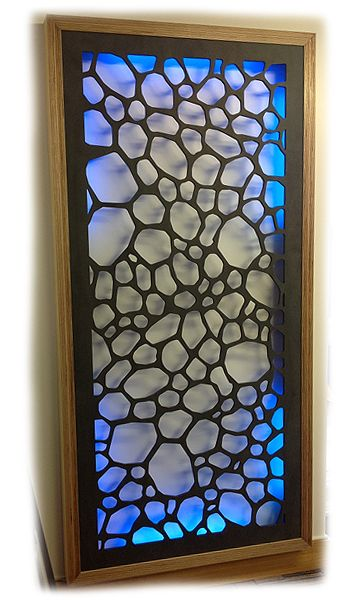 Stones LED backlit fretwork screen by wavywallpanels.com