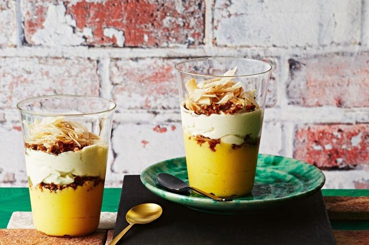 Dr. Sam Prince's saffron, ginger and macadamia twist on a classic lemon curd dessert is a show-stopper, adding just a hint of Indian spice to the zesty citrus.