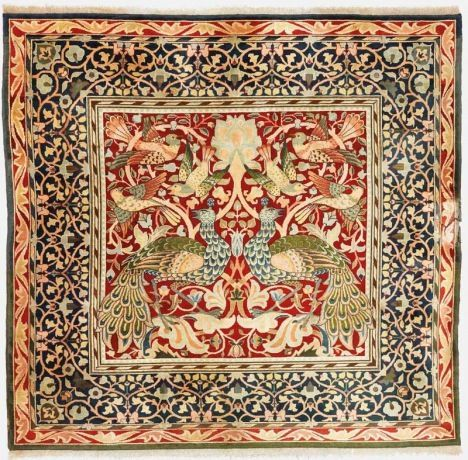 Peacock and bird carpet c.1800s © William Morris Gallery, London Borough of Waltham Forest: