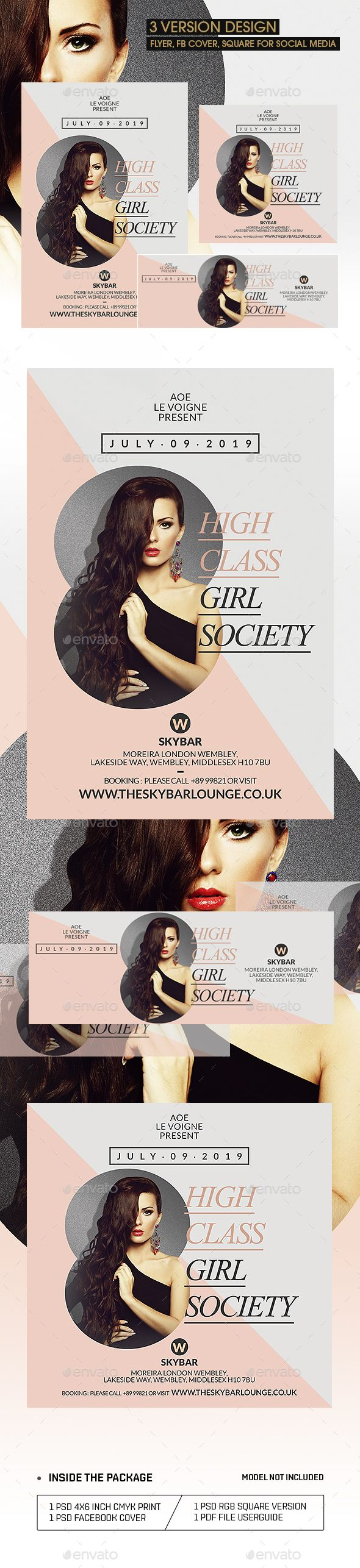Great flyer/Poster for Promoting your Sexy, Girls Night Out, VIP, Elegant, Classy, Fashion Party/events Celebration • Only available here! → https://graphicriver.net/item/jiro-flyer-template/17235733?ref=pxcr