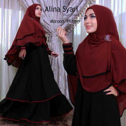 Gamis Syar'i Modern ALINA SYARI HITAM - http://warongmuslim.com/gamis-syari/gamis-syari-modern-alina-syari-hitam/