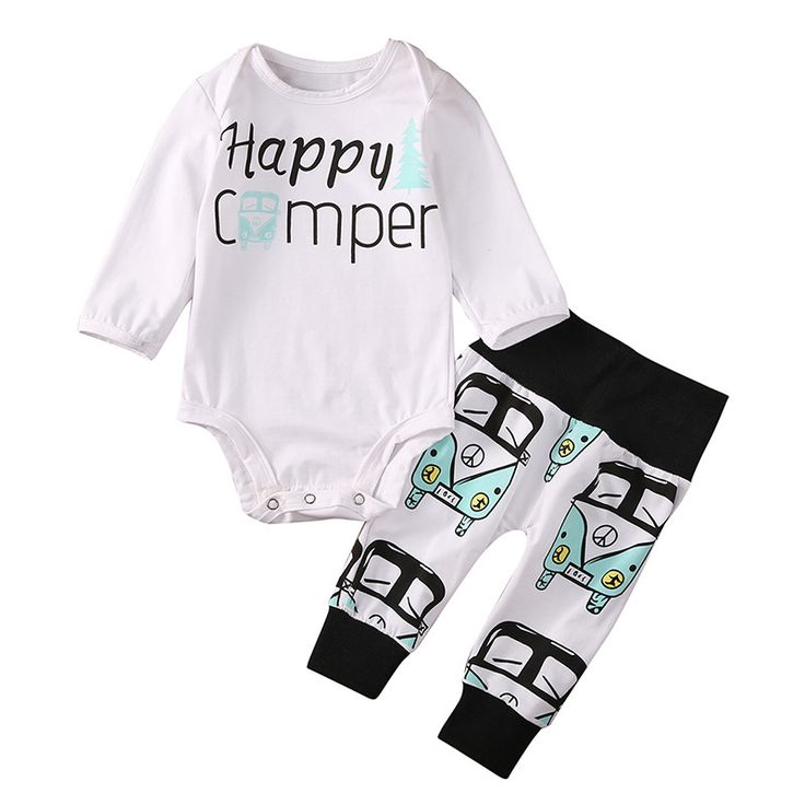 Happy Camper Baby Outfit