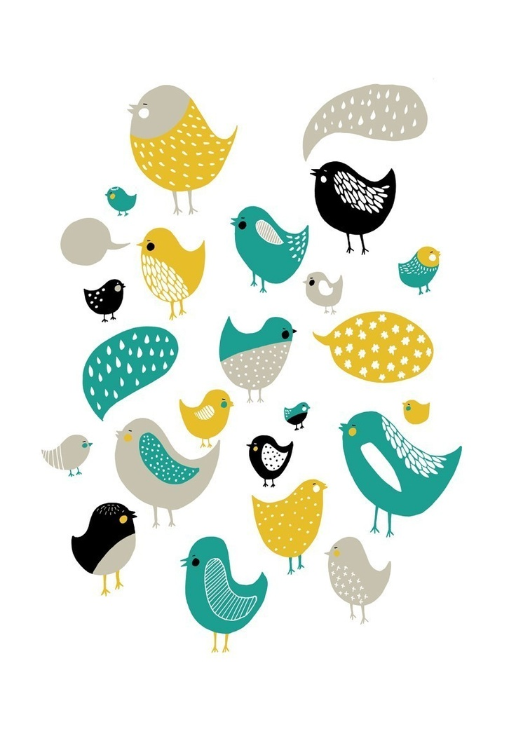 LIMITED EDITION Bird Song Yellow/Teal par blackoutwell sur Etsy