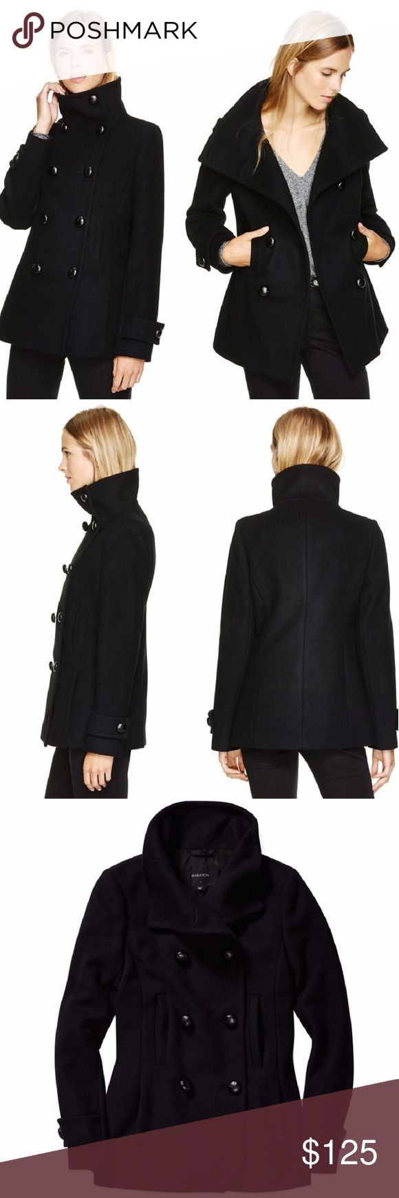 Aritzia Howell Wool & Cashmere Coat Tailored using a luxurious Italian wool blend, this peacoat has a slim, sleek silhouette. The seams and edges are finished with a bespoke stitching technique to keep them flat and defined. Button the leather-wrapped buttons all the way for a funnel-neck look.  Made from a beautifully warm wool blend with cashmere for added softness 70% Wool, 20% Polyamide, 10% Cashmere Lining: 100% Cupro Rayon Fabric from Italy  Excellent condition! Aritzia Jackets & Coats…