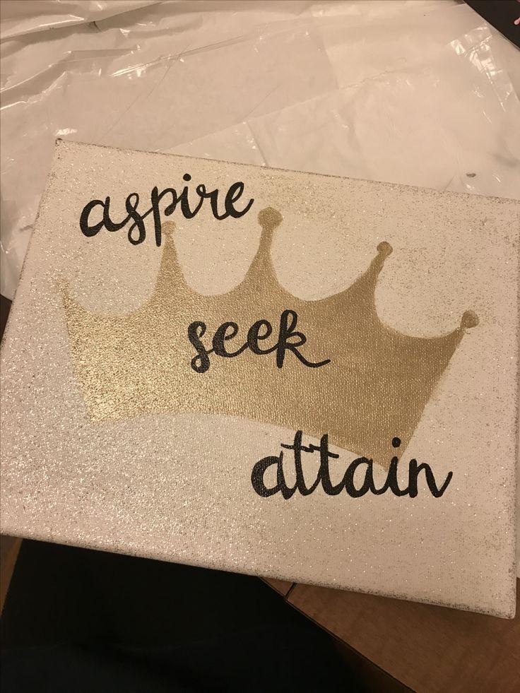 Alpha Sigma Alpha sorority canvas aspire seek attain
