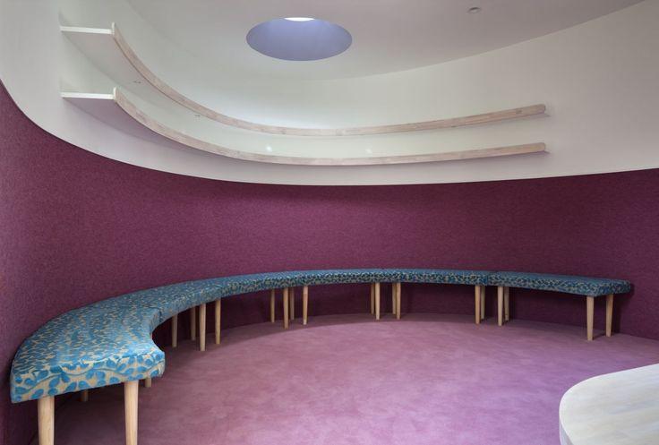 lila Ruheraum Fluid Bio & nachhaltige Vermögenswerte Featured In ein japanisches Home von Hideo Kumaki Büro Architekten