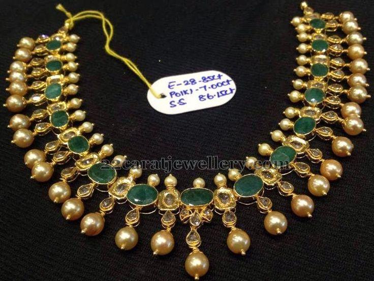 Latest Emeralds Uncuts Set 40gms | Jewellery Designs